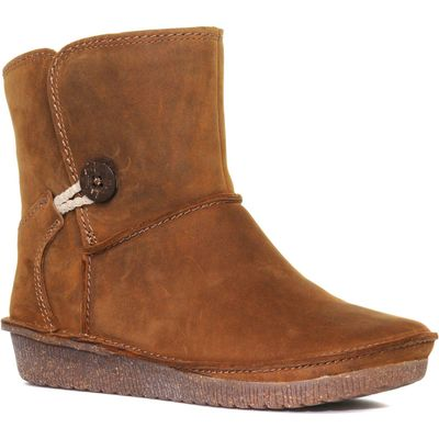 Clarks Women's Lima Caprice Ankle Boot - Brown, Brown