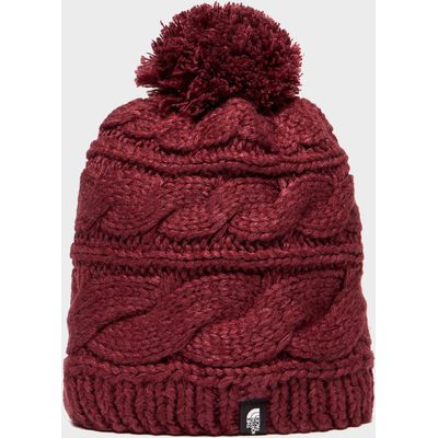 The North Face Women's Triple Cable Beanie - Red, Red