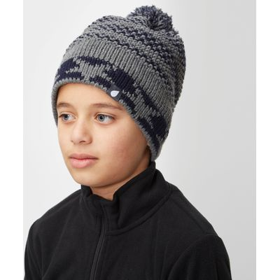 Peter Storm Boys' Ethan Bobble Hat - Grey, Grey