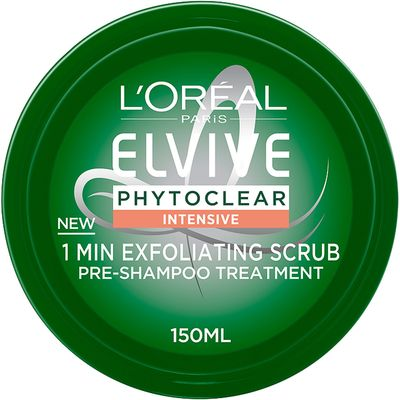 L'Oreal Paris Elvive Phytoclear Anti-Dandruff 1 Minute Exfoliating Scrub 150ml