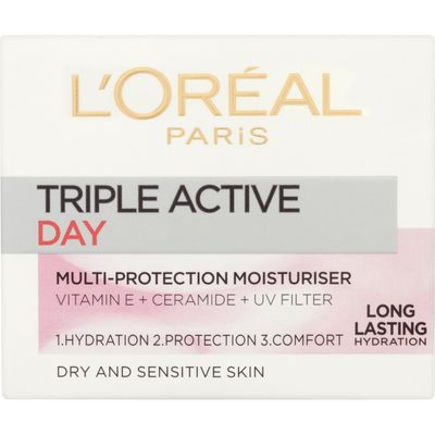 L'Oreal Paris Triple Active Day Dry and Sensitive Moisturiser
