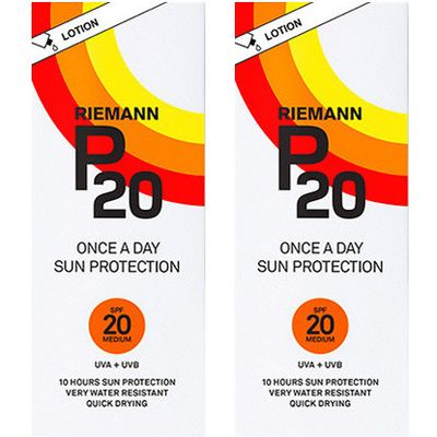 Riemann P20 Once A Day Sun Filter Lotion SPF20 - Twin Pack