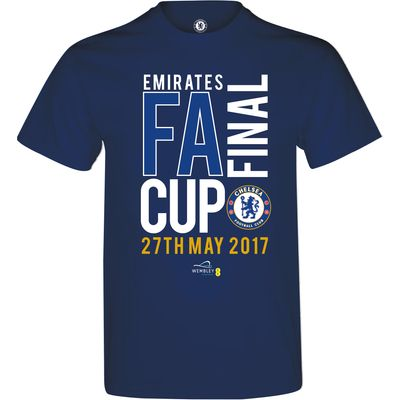 Chelsea Road To Wembley FA Cup Final T-Shirt - Navy - Mens, Navy