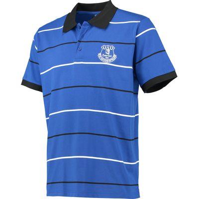 Everton Essentials Stripe Polo Shirt - Royal, Blue