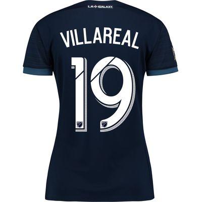 LA Galaxy Away Shirt 2017-18 - Womens with Villarreal 19 printing, Navy