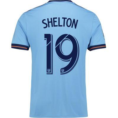 New York City FC Home Shirt 2017-18 with Shelton 19 printing, Blue