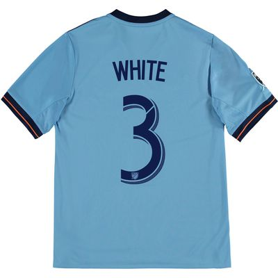 New York City FC Home Shirt 2017-18 - Kids with White 3 printing, Blue