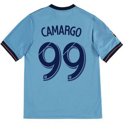 New York City FC Home Shirt 2017-18 - Kids with Camargo 99 printing, Blue