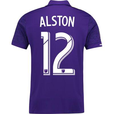 Orlando City SC Home Shirt 2017-18 with Alston 12 printing, Purple