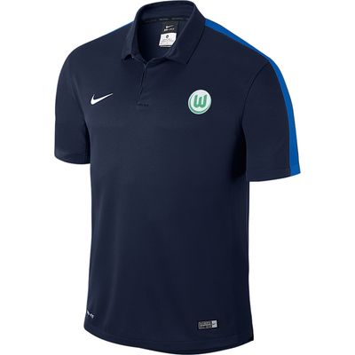 VfL Wolfsburg Training Polo - Blue, Blue