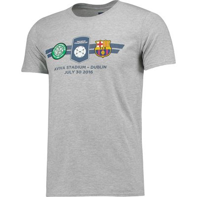 Barcelona v Celtic FC ICC Match Up T-Shirt - Mens - Grey, Grey