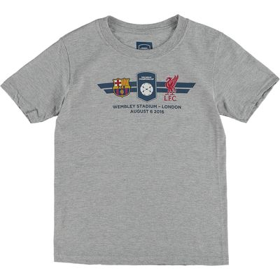 Barcelona v Liverpool FC ICC Match Up T-Shirt - Junior - Grey, Grey