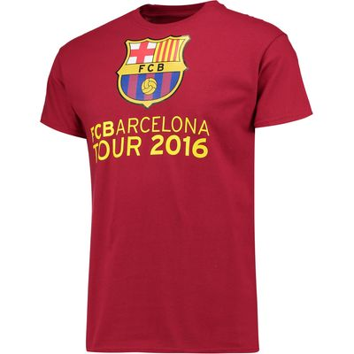 Barcelona 2016 Tour T-Shirt - Mens - Cardinal Red, Red