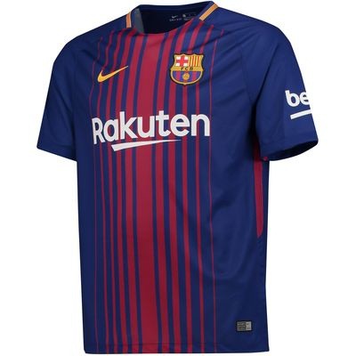 Barcelona Home Stadium Shirt 2017-18 - Kids, Red/Blue
