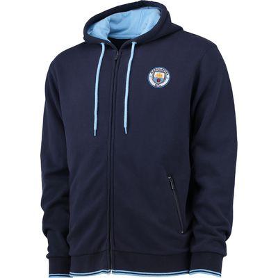Manchester City Classic Full Zip Hoodie - Navy, Navy