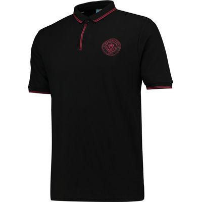 Manchester City Classic Slim Fit Polo Shirt - Black, Black