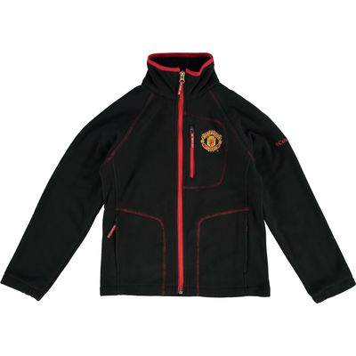 Manchester United Columbia Fast Trek Full Zip Fleece Jacket - Black -, Black