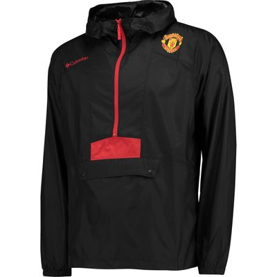 Manchester United Columbia Flashback Windbreaker - Black - Mens, Black
