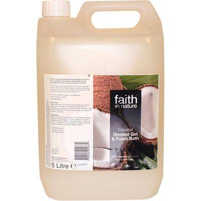 Faith in Nature Shower Gel & Foam Bath - Coconut - 5 Litre