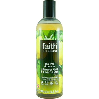 Faith in Nature Shower Gel & Bath Foam - Lemon & Tea Tree - 400ml