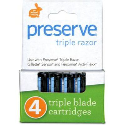 Preserve Replacement Razor Blades - 4pk