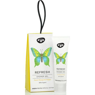 Green People Organic Butterfly Conservation Refresh Shower Gel - Sweet Orange & Ginger - 30ml
