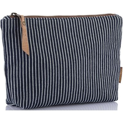 Bambu Organic Cotton Stripe Large Zip Pouch