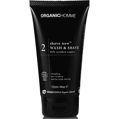 Organic Homme Shave Now Wash & Shave Gel 125ml