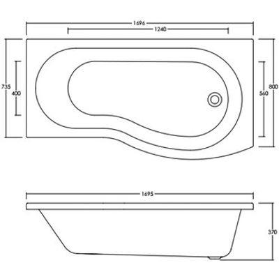 5057253691771 | Shower Bath Soaking Bathtub Store