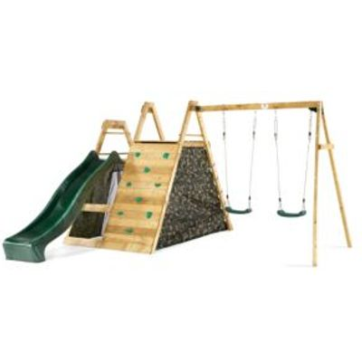 5036523044646 | Plum Outdoor Wooden Climbing Pyramid with Swing Arm Store