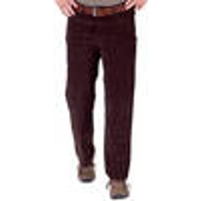 Cotton trousers 5 pocket, brown with comfort band, colour, size 32 Francesco Botti