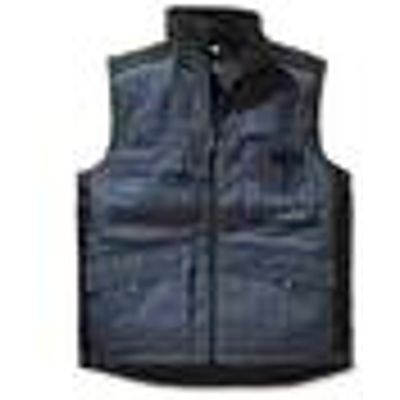 Thermal Body Warmer with Kidney Protection, blue/black, various sizes