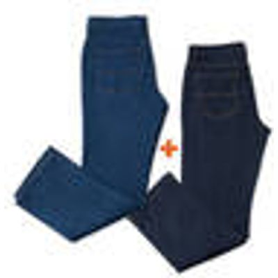 Jeans in saver pack, bluestone and dark blue in various sizes