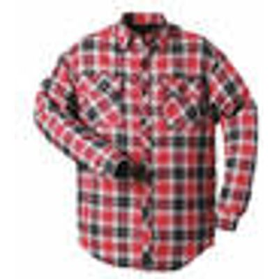 Lined Lumberjack Shirt, red-black size M Craftland