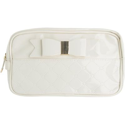 Patent leather toiletry bag with bow Mayoral