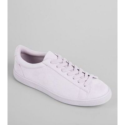 Lilac Suedette Trainers