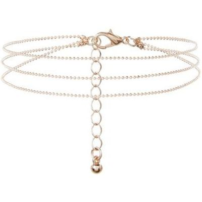 Rose Gold Layered Chain Anklet