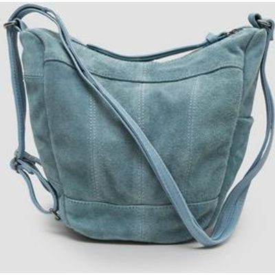 Blue Suede Hobo Backpack