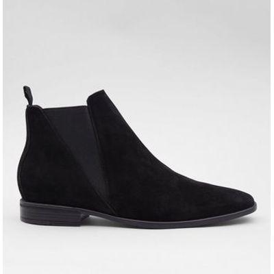 Black Suedette Chelsea Boots