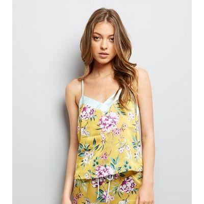 Tall Yellow Floral Print Pyjama Cami