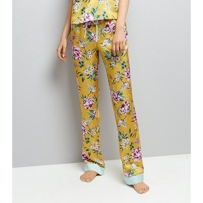Tall Yellow Floral Print Pyjama Trousers