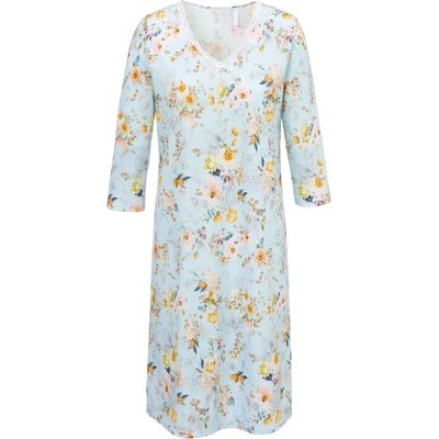Knee-length nightdress 3/4-length sleeves Rösch multicoloured