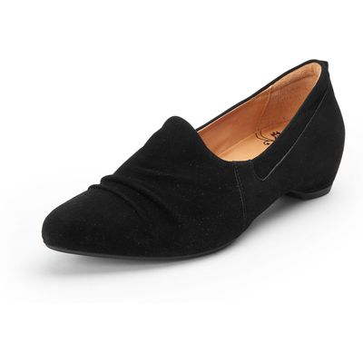 Imma slip-ons with discreet gathers from Think! black