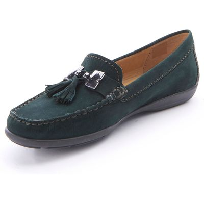 Flexible moccasins Wirth green