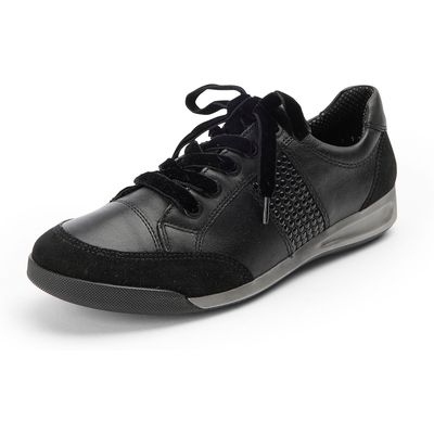 Rom trainers velvet laces and studs ARA black