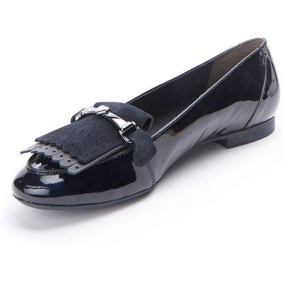 Loafers with fringes from Paul Green blue