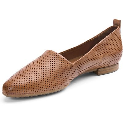 Slip-ons fashionable perforations Paul Green brown