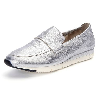 """Tiger"" slip-ons in an exquisite metallic look Kennel & Schmenger silver"