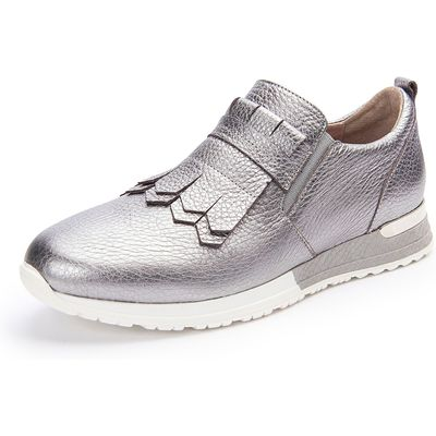 Low shoes fringing Scarpio silver