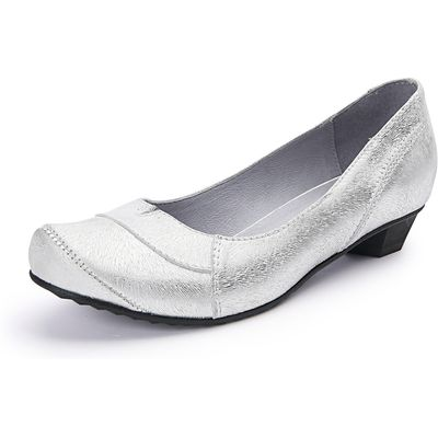 Particularly flexible and comfortable town shoes iiM77 silver